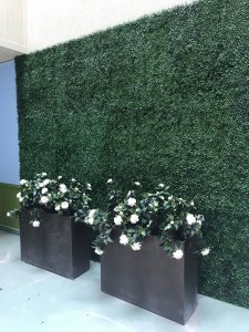 faux uv green wall planting