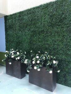 faux uv green wall planting