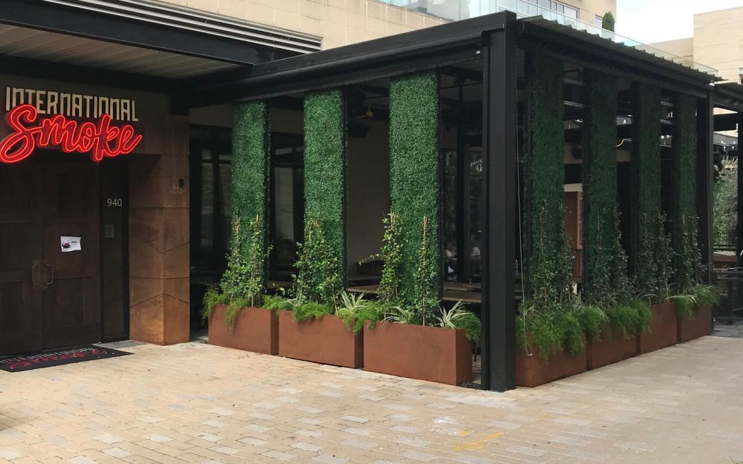 Int'l Smoke Restaurant, Houston, TX – Privacy Hedges