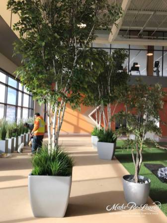 artificial plantscape and trees