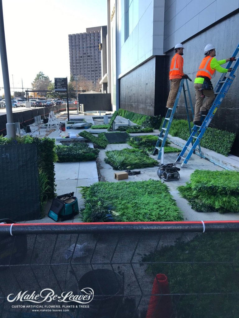 Phipps Plaza artificial green wall installation