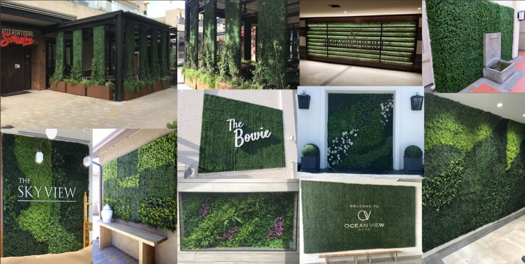 designer artificial green walls