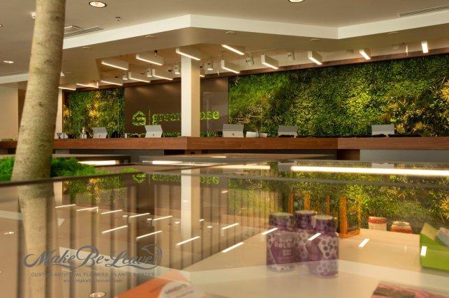 Artificial Green Wall w Cannabis