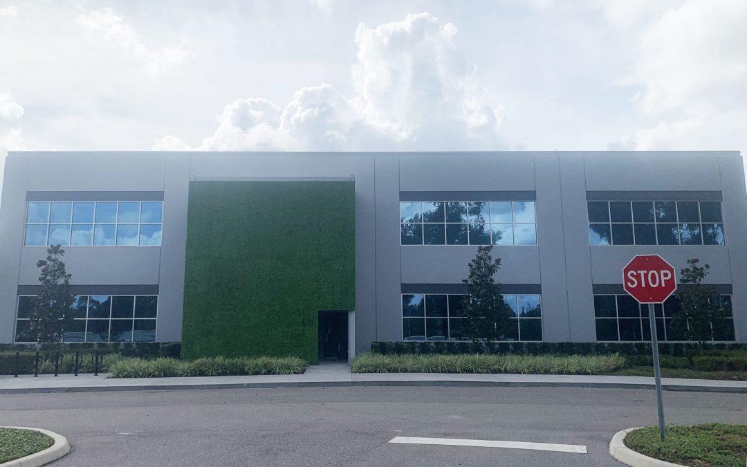 exterior uv green wall