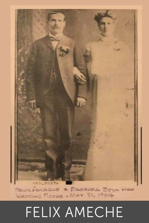 Felix & Barbara Ameche wedding picture 05 31 1904