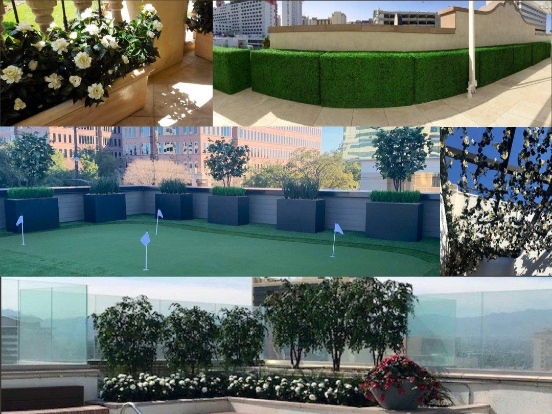 Artificial uv exterior planting