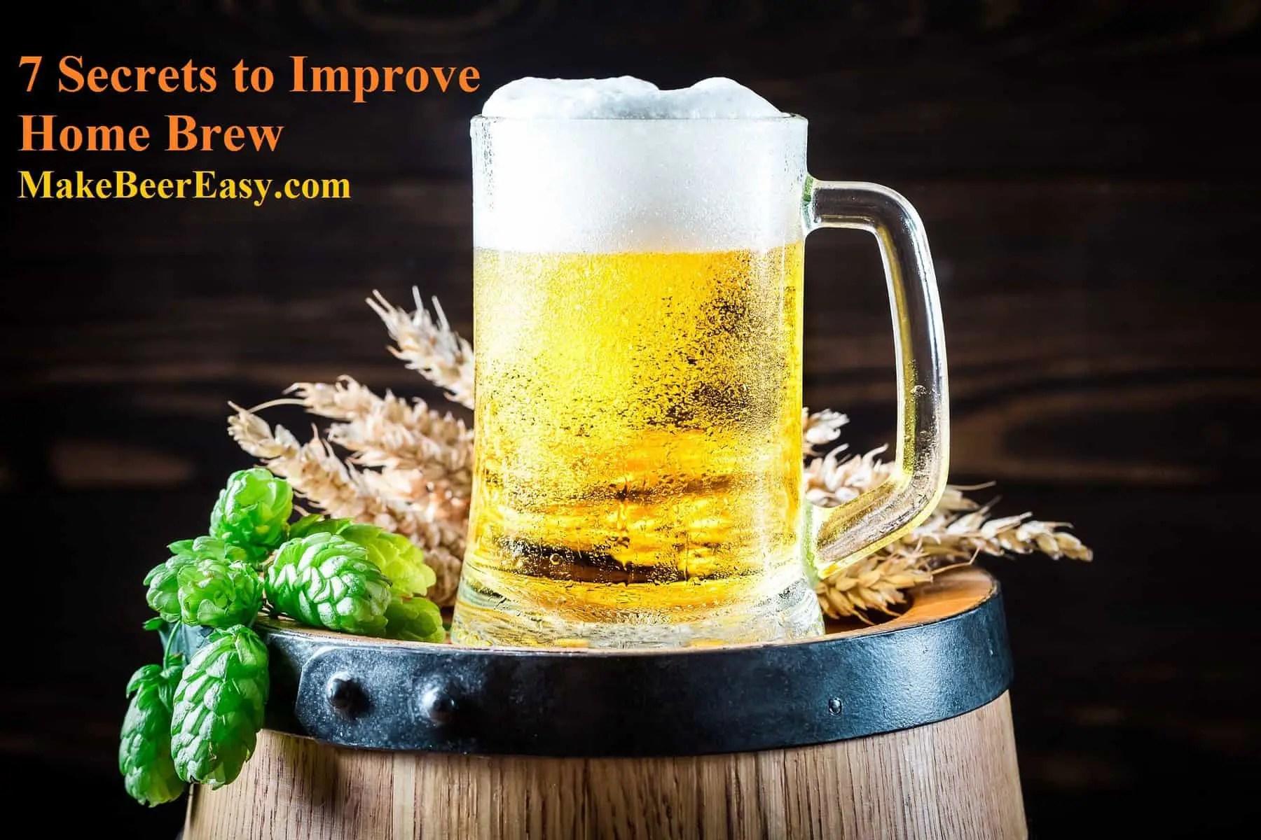 Home Brewed Beer Siting on Wooden Keg