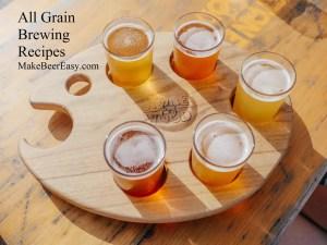 Flight of all grain beer