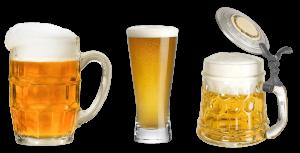 Three Fancy Glasses of Homebrew Beer