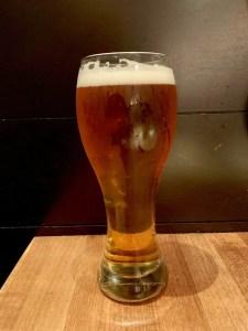 Home brewed pale ale beer