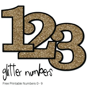 Free Printable Glitter Numbers