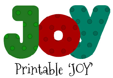 Free 'Joy' Printable
