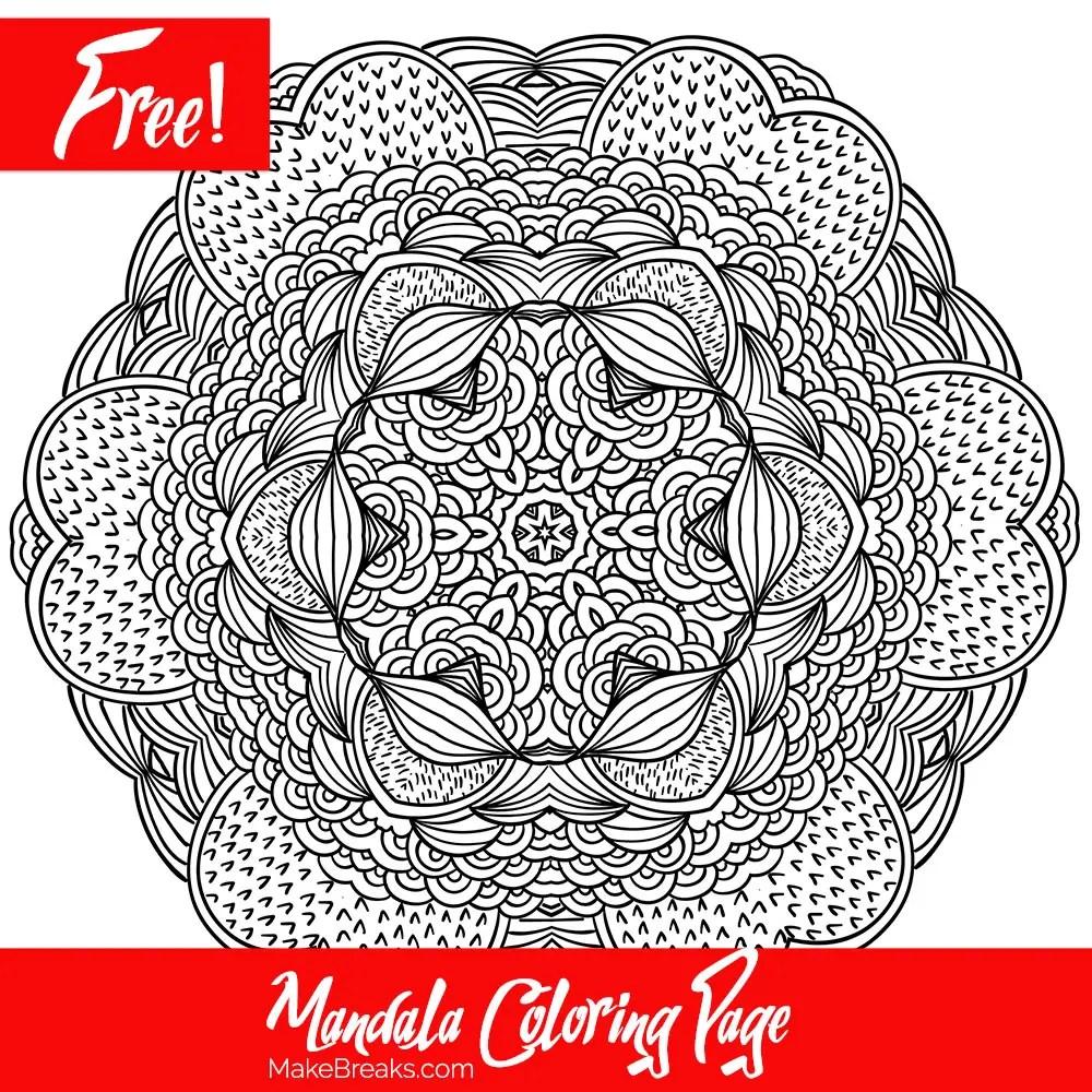 Free Printable Mandala Coloring Page 2 - Make Breaks