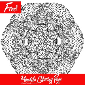 Free Printable Mandala Coloring Page 2