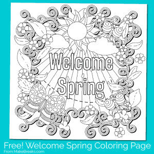 Free Printable Welcome Spring Coloring Page