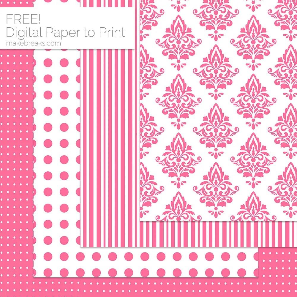 Pink Pattern Digital Paper Download