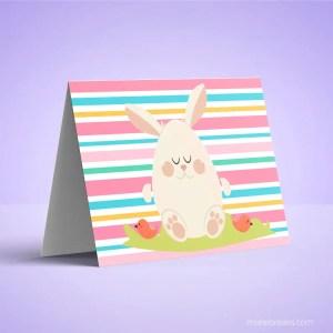 Free Printable Bunny Card