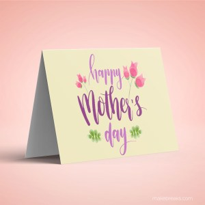 Free Printable Mother's Day Card 1