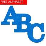 Blue Felt Effect Free Printable Alphabet