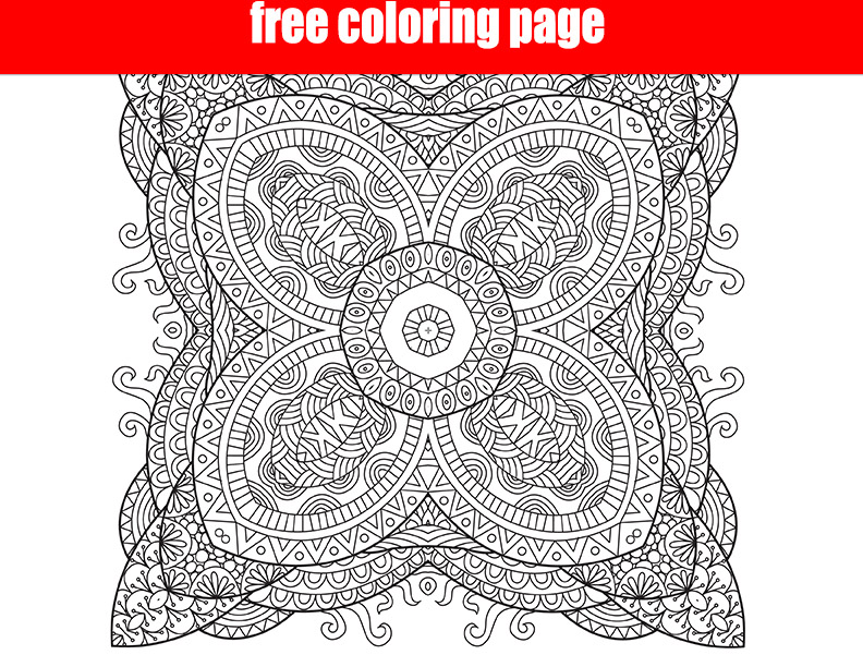 Free Printable Square Mandala Coloring Intricate Make