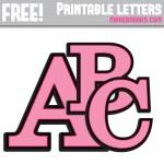 Pink With Black Edge Free Printable Alphabet