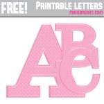 Pink Polka Dot Free Printable Alphabet