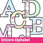 Unicorn Letters to Print – Free Printable Alphabet