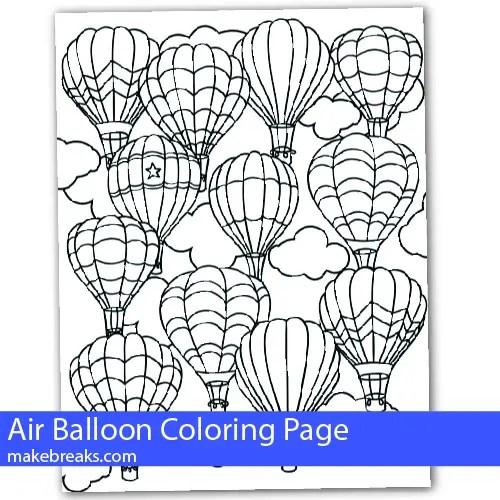 Air Balloon Coloring Page