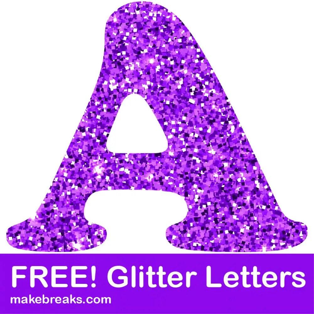 photo regarding Free Printable Clip Art Letters known as No cost Printable Crimson Glitter Letters towards Obtain - Crank out Breaks