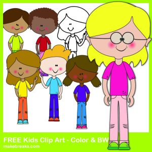 Free Cute Kids Clipart For Teachers