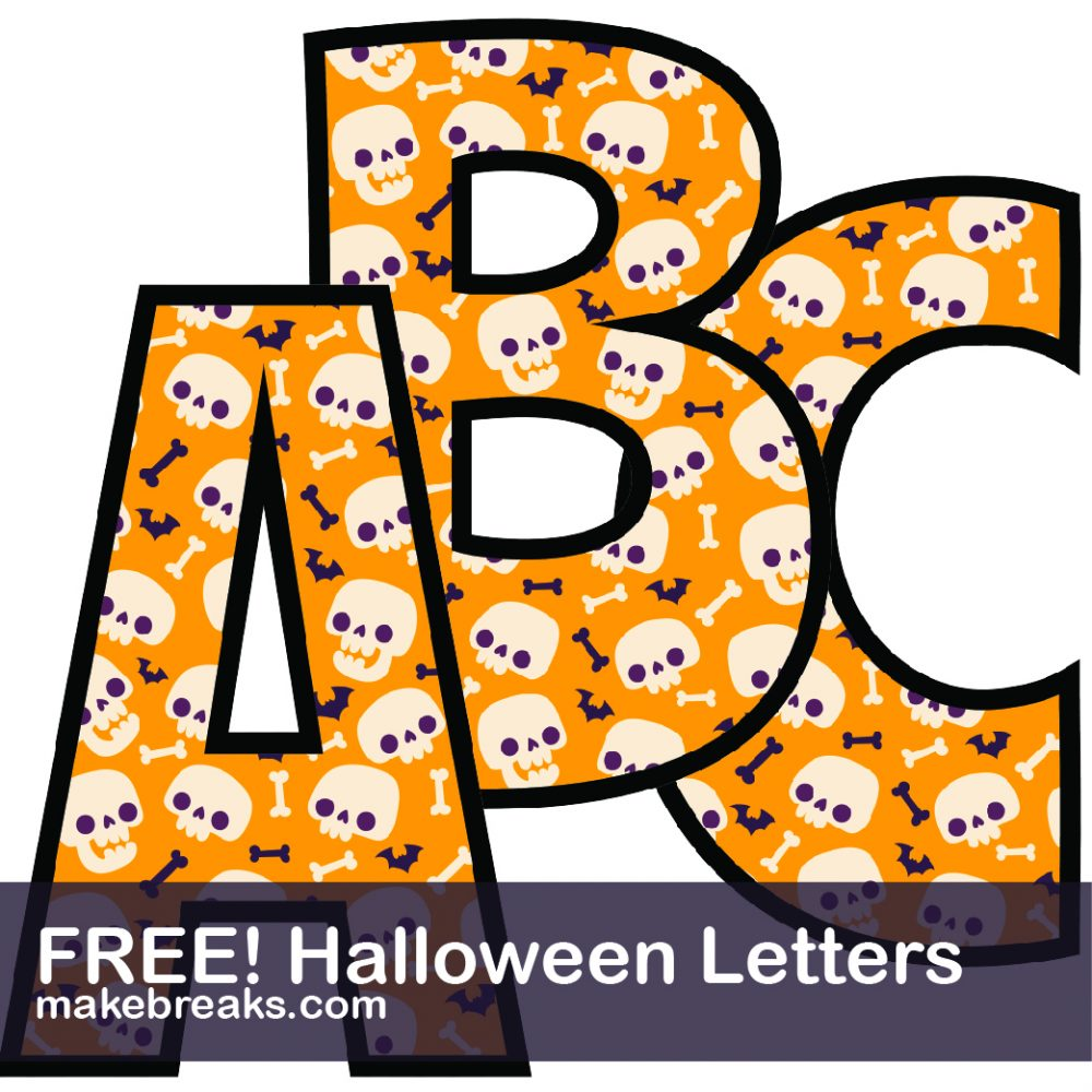 Halloween Printable Alphabet for Crafts