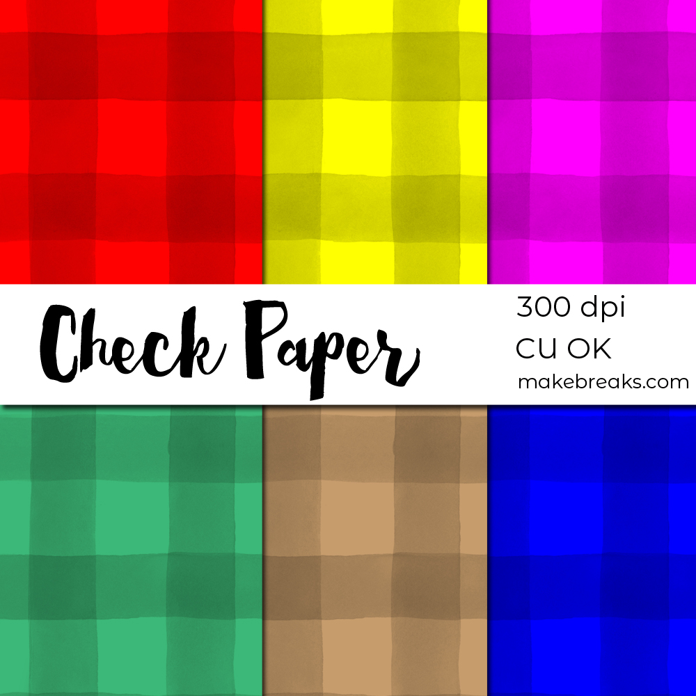 Check Plaid Tartan Digital Paper Download