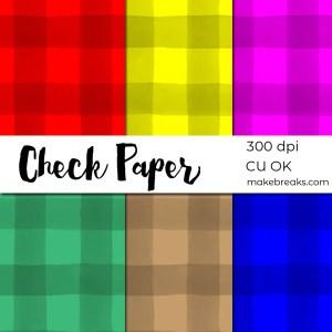 Check Plaid Tartan Digital Paper Download