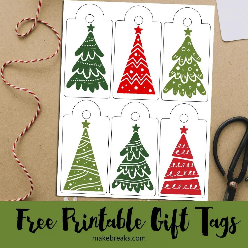 Christmas Tree Free Printable Gift Tags