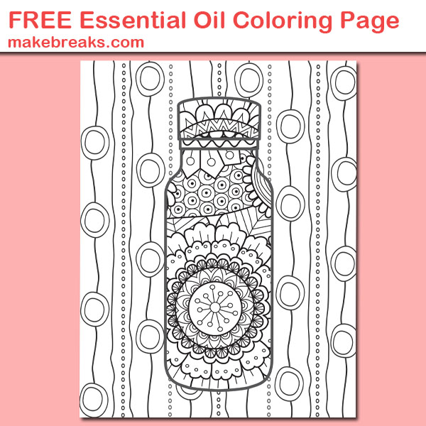 Free Essential Oil Coloring Page