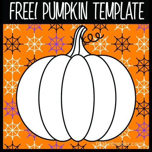 Free pumpkin template