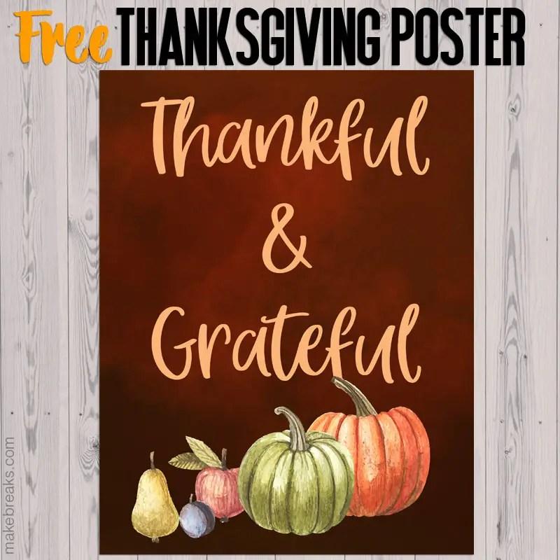 Free thanksgiving poster to download