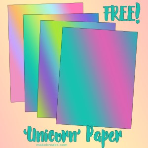 Rainbow 'Unicorn' Digital Paper Download