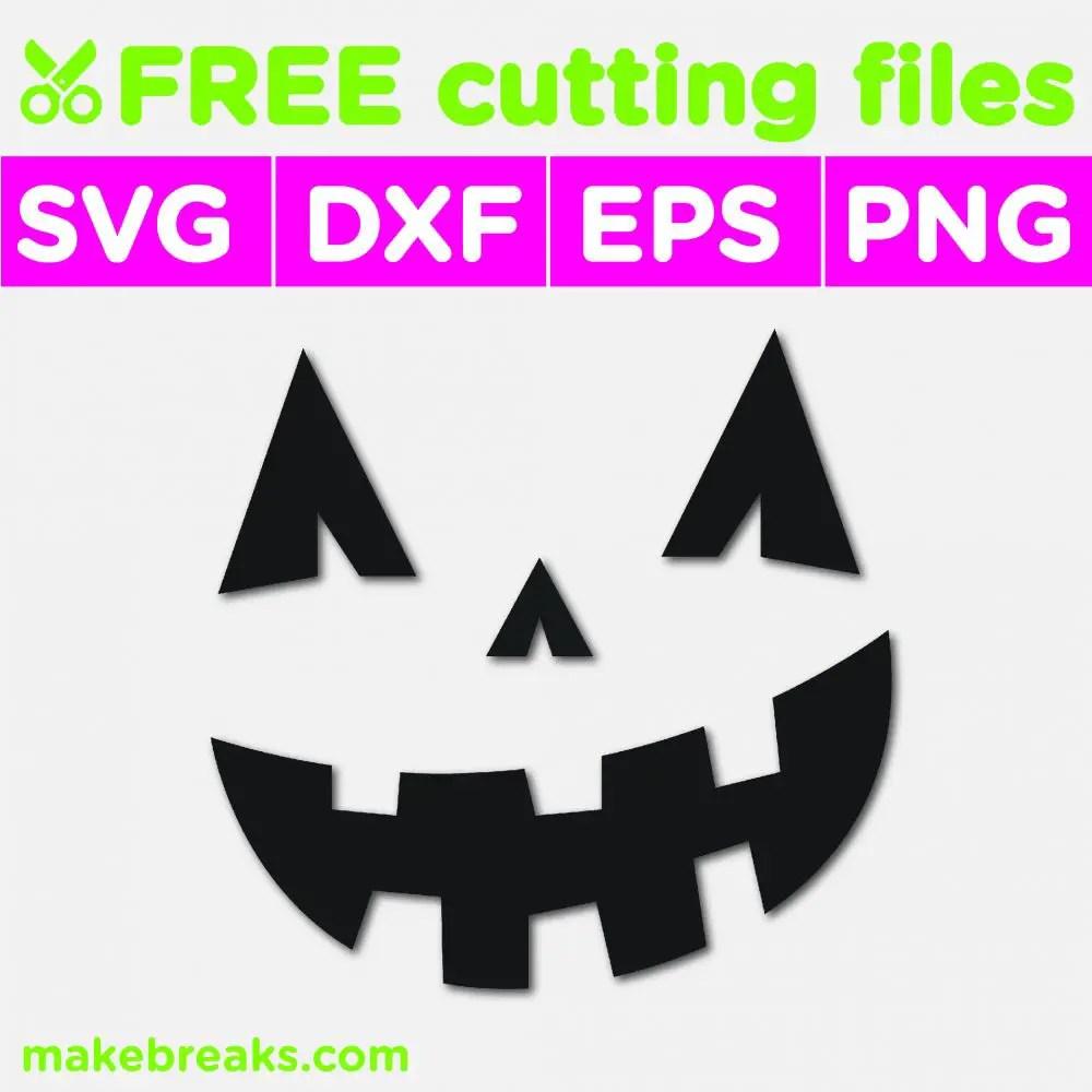 Free SVG Cutting File – Jack O Lantern Face