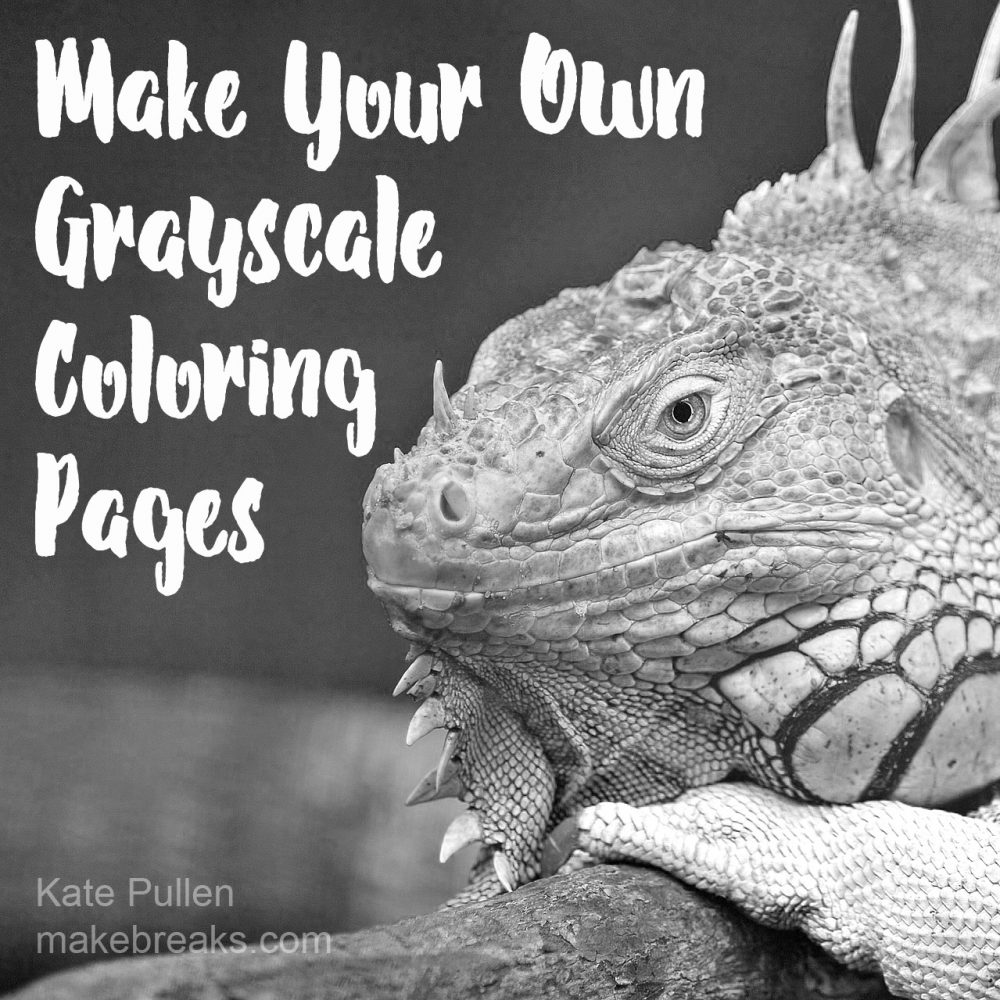 How to Make Your Own Grayscale Coloring Pages - Make Breaks