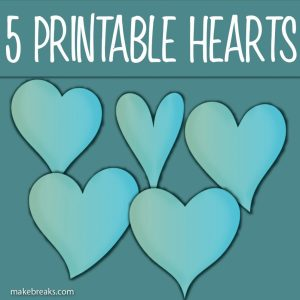 Five Free Printable Blue Heart Templates