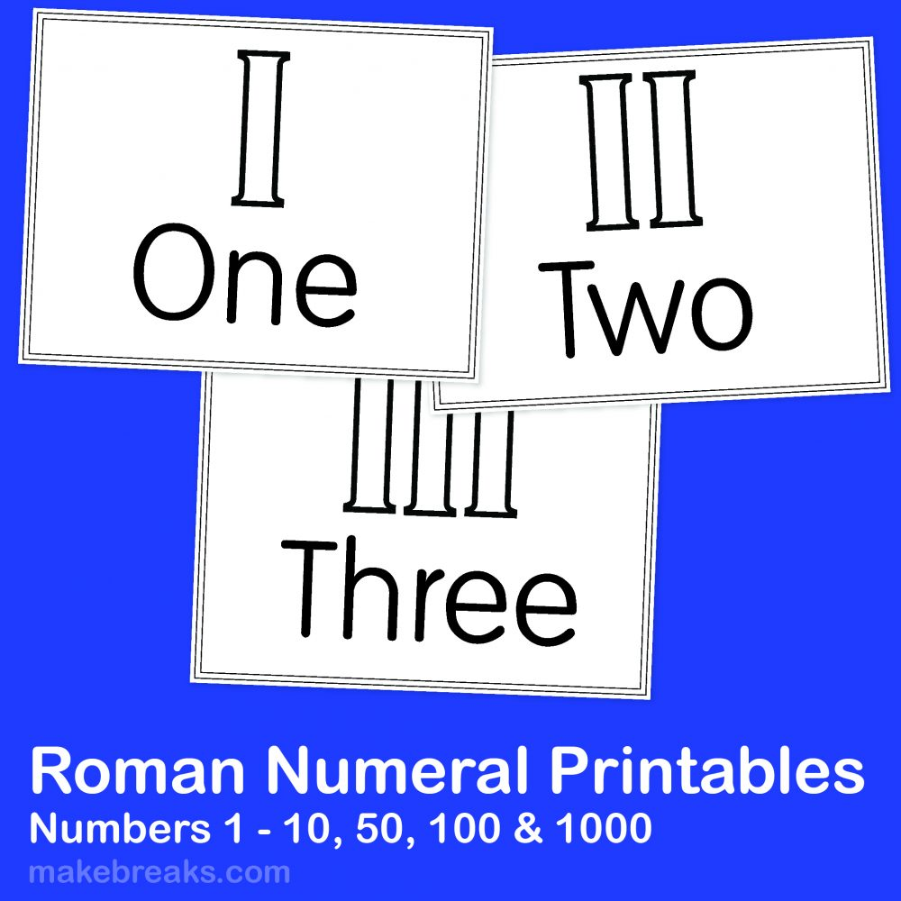 This is a graphic of Universal Roman Numerals Printable