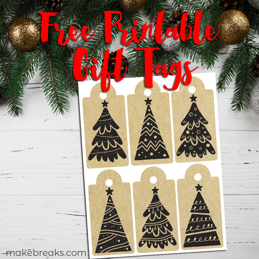 Christmas Tree Kraft Paper Free Printable Gift Tags