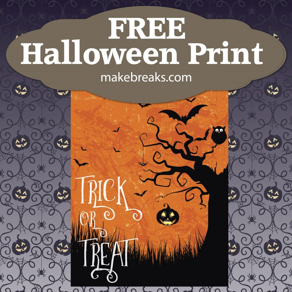 Free Halloween Printable Poster