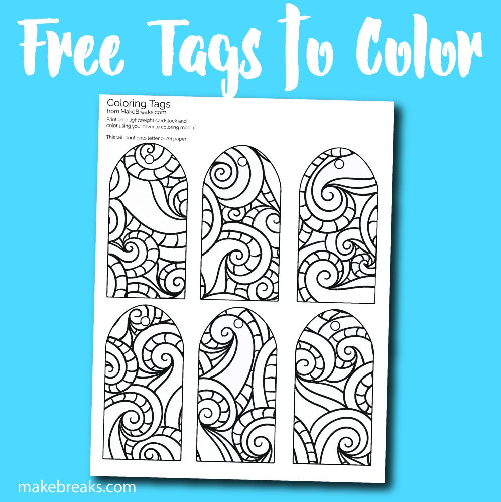 Free Printable Gift Tags to Color