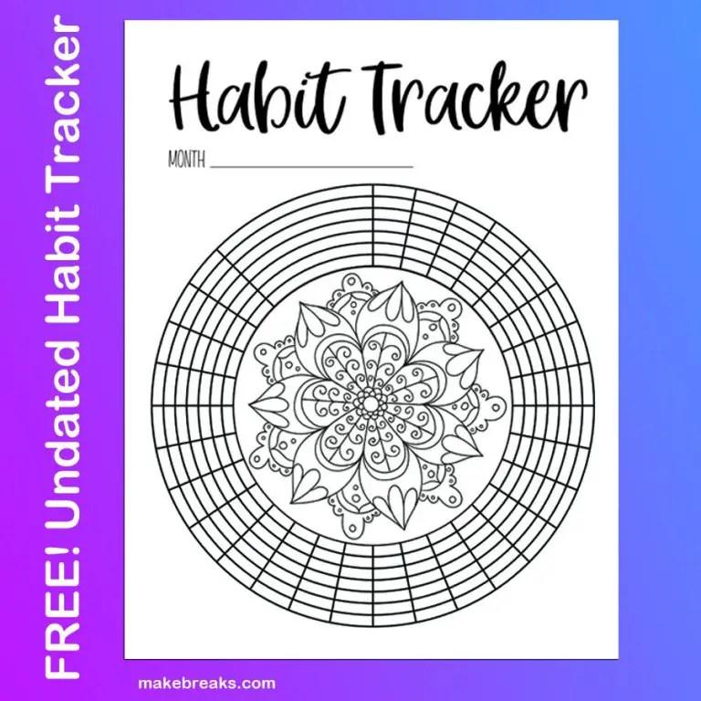 Undated Habit Tracker