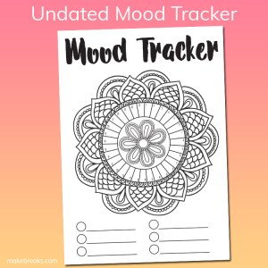 Free Undated Mandala Mood Tracker Tracking Page