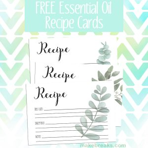 Free Essential Oils Recipe Cards – Eucalyptus Plant Design
