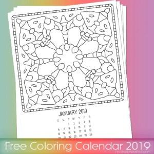 Free coloring calendar