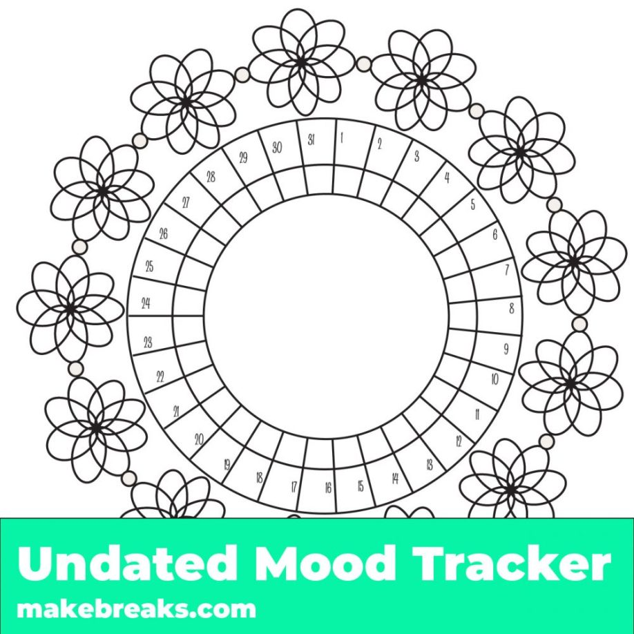 Free Undated Printable Habit And Mood Trackers Over 40 Trackers For Your Bullet Journal And Planner Make Breaks
